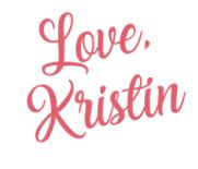 Love,Kristin
